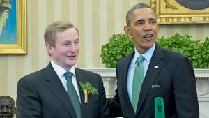Enda Kenny said Barack Obama's actions 'demonstrate true leadership'