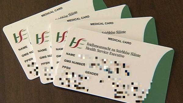 The cards were issued on an administrative basis to around 1,100 by the Health Service Executive from May 2018