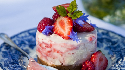 Strawberry and White Chocolate Cheesecakes | Donal Skehan
