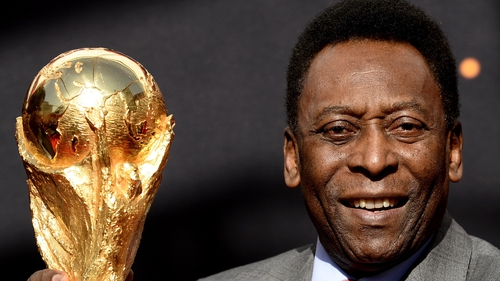 Although the ad does not mention Pele, it includes a portrait-sized image of a man who 'very closely resembles' him
