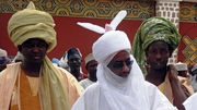 The Emir of Kano, Sanusi Lamido Sanusi, centre, in the northern Nigerian city last June