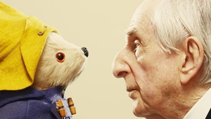 Michael Bond and his creation, Paddington (pic: Felicity McCabe)