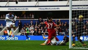 Leroy Fer of QPR scores his team's second goal