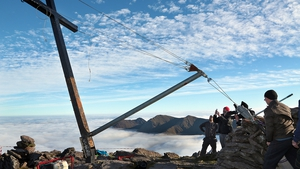 Last Saturday the iconic cross was discovered lying on the summit, having been cut down