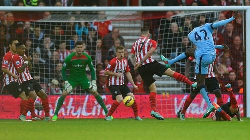 Yaya Toure drills home City's opening goal