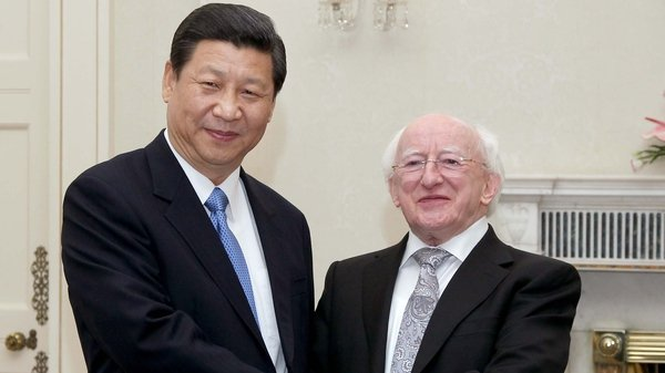 Chinese President Xi Jinping invited President Michael D Higgins to visit China this month