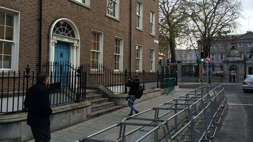 The man died on Molesworth Street, less than 50 metres from Leinster House