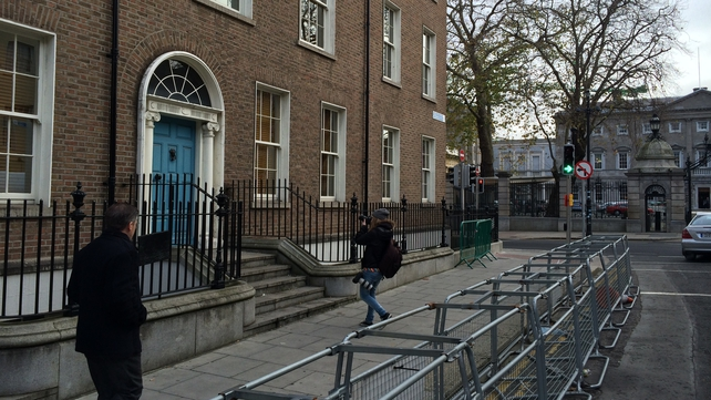The man's body was discovered on Molesworth Street, less than 50 metres from Leinster House