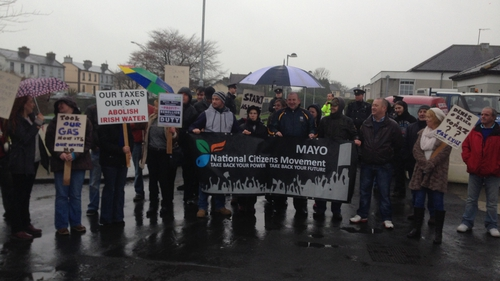 Protesters called for the abolition of Irish Water