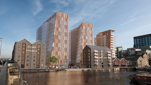 A computer image of the proposed development