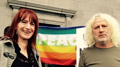 Independent TDs Clare Daly and Mick Wallace after the hearing at Ennis District Court