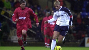 Eidur Gudjohnsen playing for Bolton Wanderers in 1999