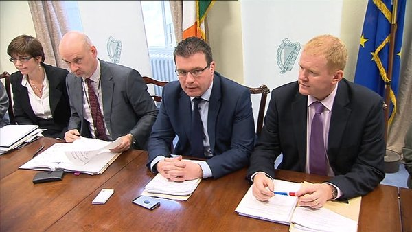 Minister Alan Kelly (2nd R) at the forum that was prompted by the death of Johnathan Corrie just yards from Leinster House on Monday