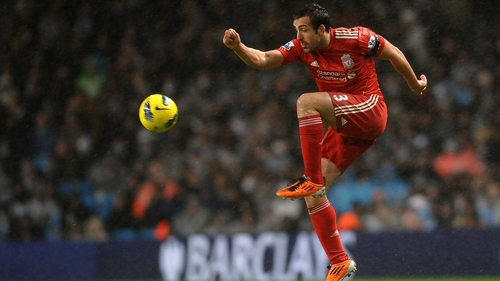 Enrique in action for Liverpool