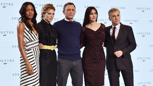 Naomi Harris, Lea Seydoux, Daniel Craig, Monica Bellucci and Christoph Waltz at the launch of Spectre