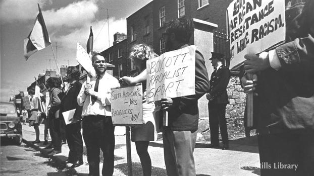 Anti-Apartheid Demonstration in Rathmines (1969)
