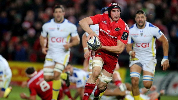 Tommy O'Donnell is on the bench for Munster