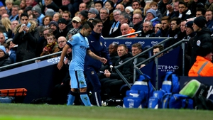 Sergio Aguero continues to be sidelined
