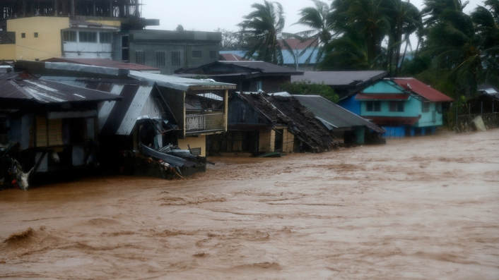 Typhoon Hagupit hits the Philippines