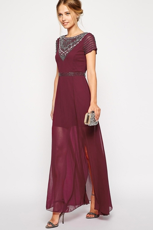 Frock and Frill Maxi Dress With Jeweled Neck €135.72 at Asos