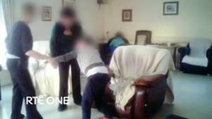 A still from footage shot by the RTÉ Investigations Unit at Áras Attracta