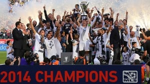 Robbie Keane's LA Galaxy are the current MLS Champions