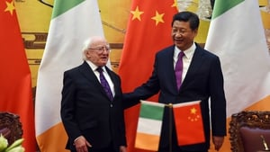 President Michael D Higgins extended the invitation when the two leaders met at the Great Hall of the People