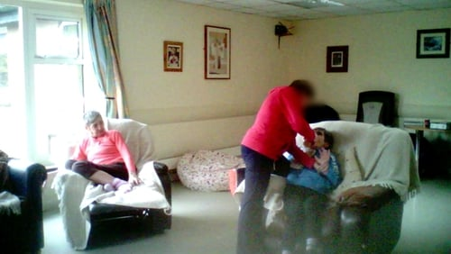 Footage showed one resident being force-fed by a member of staff