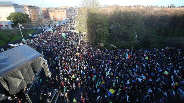 Gardaí said the rally at Merrion Square in Dublin passed off peacefully