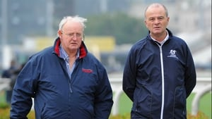 Tom Hogan and Eddie Lynam pictured at Sha Tin this morning