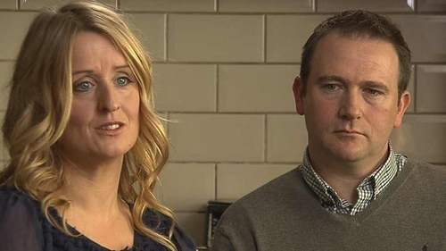 Mark and Róisín Molloy's son Mark was one of a number of babies who died at the hospital