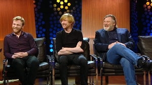 Domhnall Gleeson was joined by father Brendan and brother Brian on the show