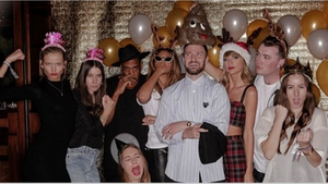 Taylor with a few pals
