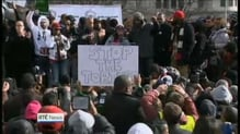 Demonstrators gather in Washington to protest over police shootings