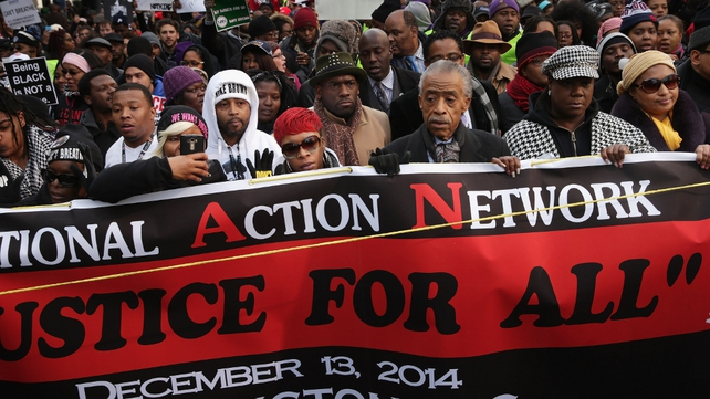 The march was organised by National Action Alliance, a civil rights group headed by the Rev. Al Sharpton