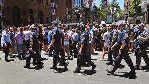 Huge numbers of police officers were mobilised