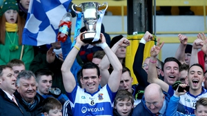 Ger Brennan lifts the McCabe Cup