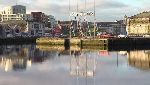 Last night the bodies were taken from the water at the Port of Cork sign