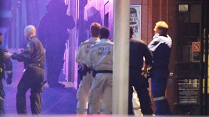 Police surround the Lindt Chocolate Cafe, Sydney