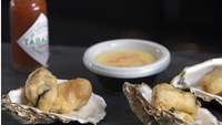 Cajun Deep-Fried Oysters with Tabasco and Lime Mayonnaise - Ah, luxury!