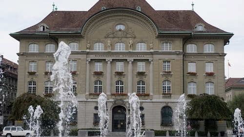 The Swiss National Bank is imposing a rate of -0.25% on certain bank deposits