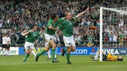 Gary Doherty scores for Ireland against Georgia in 2003