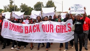 There were global street protests behind the banner 'Bring Back Our Girls'