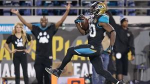 Jordan Todman crosses the goal line on a 62-yard touchdown