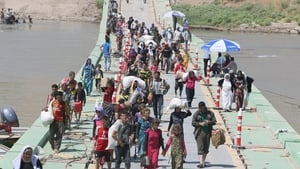 Thousands of Yazidis have had to flee their homes in northern Iraq because of the fighting