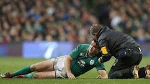 Johnny Sexton was injured playing against Australia