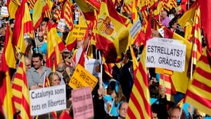 Anti-independence Catalans demonstrate for the Spanish unity in Barcelona last year