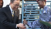 Ban Ki Moon visited an Ebola treatment centre outside Sierra Leone's capital, Freetown