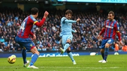 David Silva gives City the lead early in the second half at the Etihad