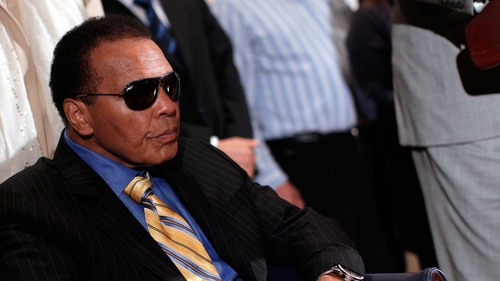 Muhammad Ali was taken into hospital with a respiratory issue